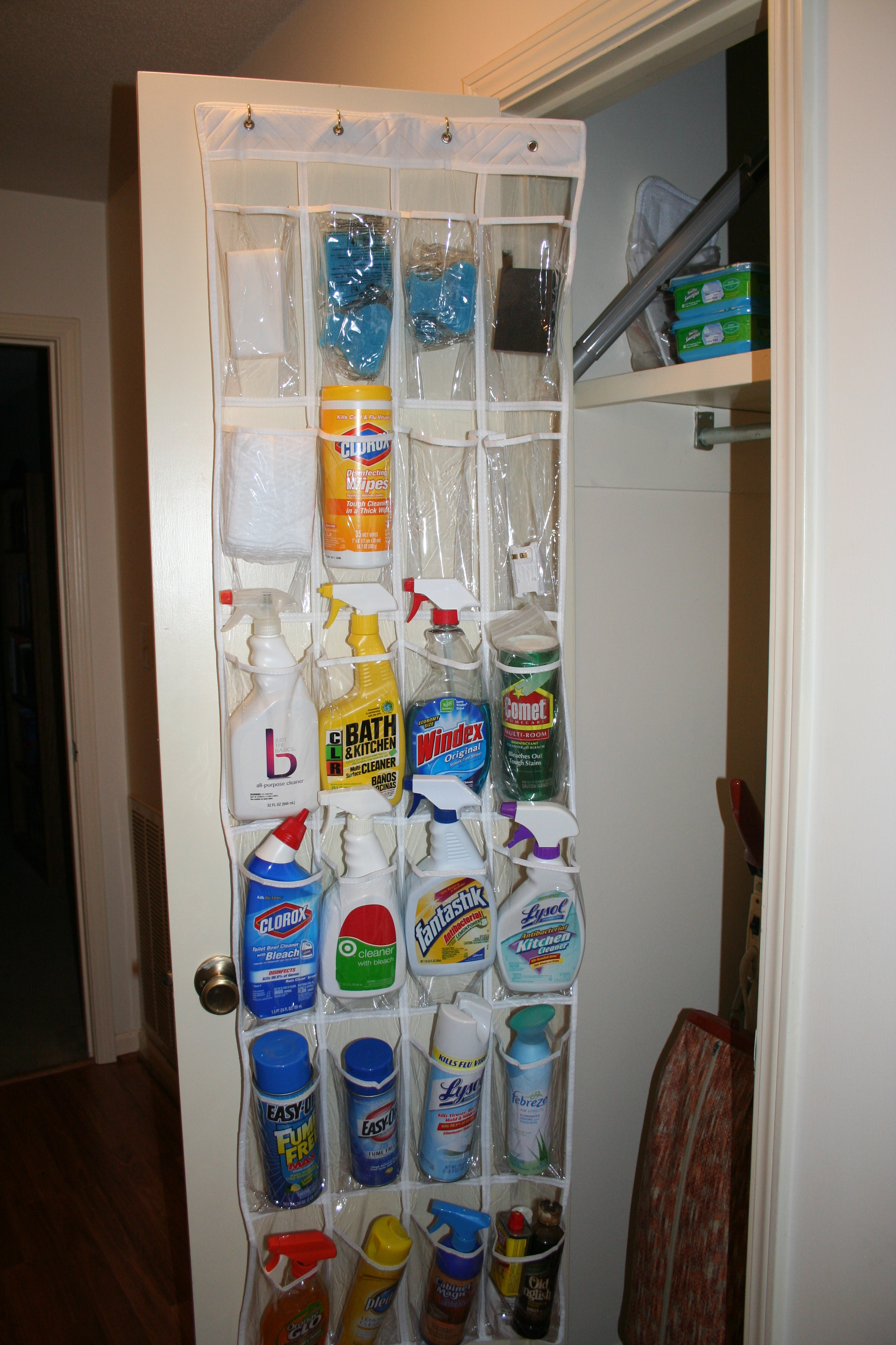 Cleaning Supplies Organized Monarch Way