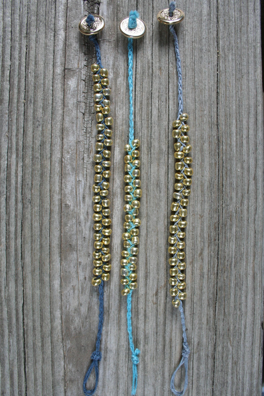 waxed linen cord bracelets
