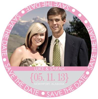 Save The Date Circle Without Calendar
