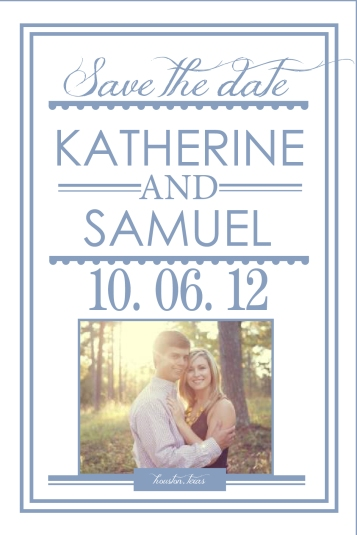 Save the Date Vertical