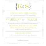 Yellow Wedding Invite