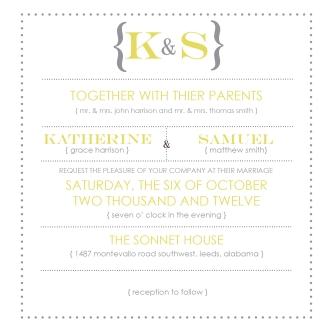 Yellow Wedding Invite