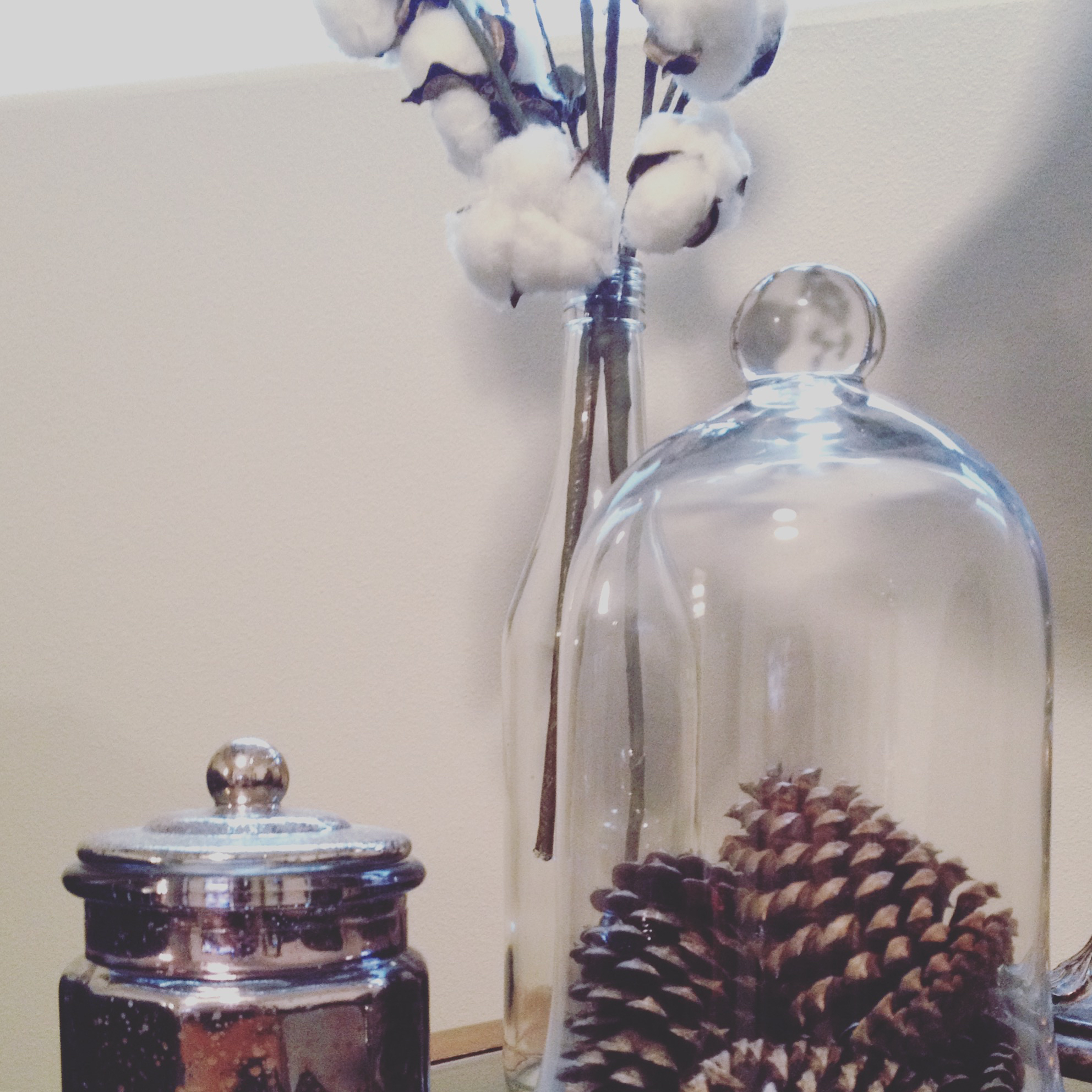 Hobby lobby glass ornaments -  Hobby Lobby Normally Has A Lot Of Mercury Glass Ornaments Five Years Ago I Gathered Acorns And Pinecones And Have Been Using The Same Ones Ever Since